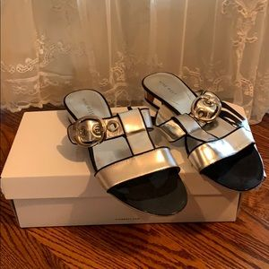 Sexy silver sandals, Nine West, size 8 1/2